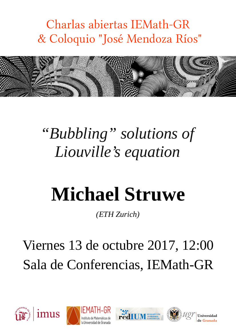 Charla abierta: Bubbling solutions of Liouville's equation