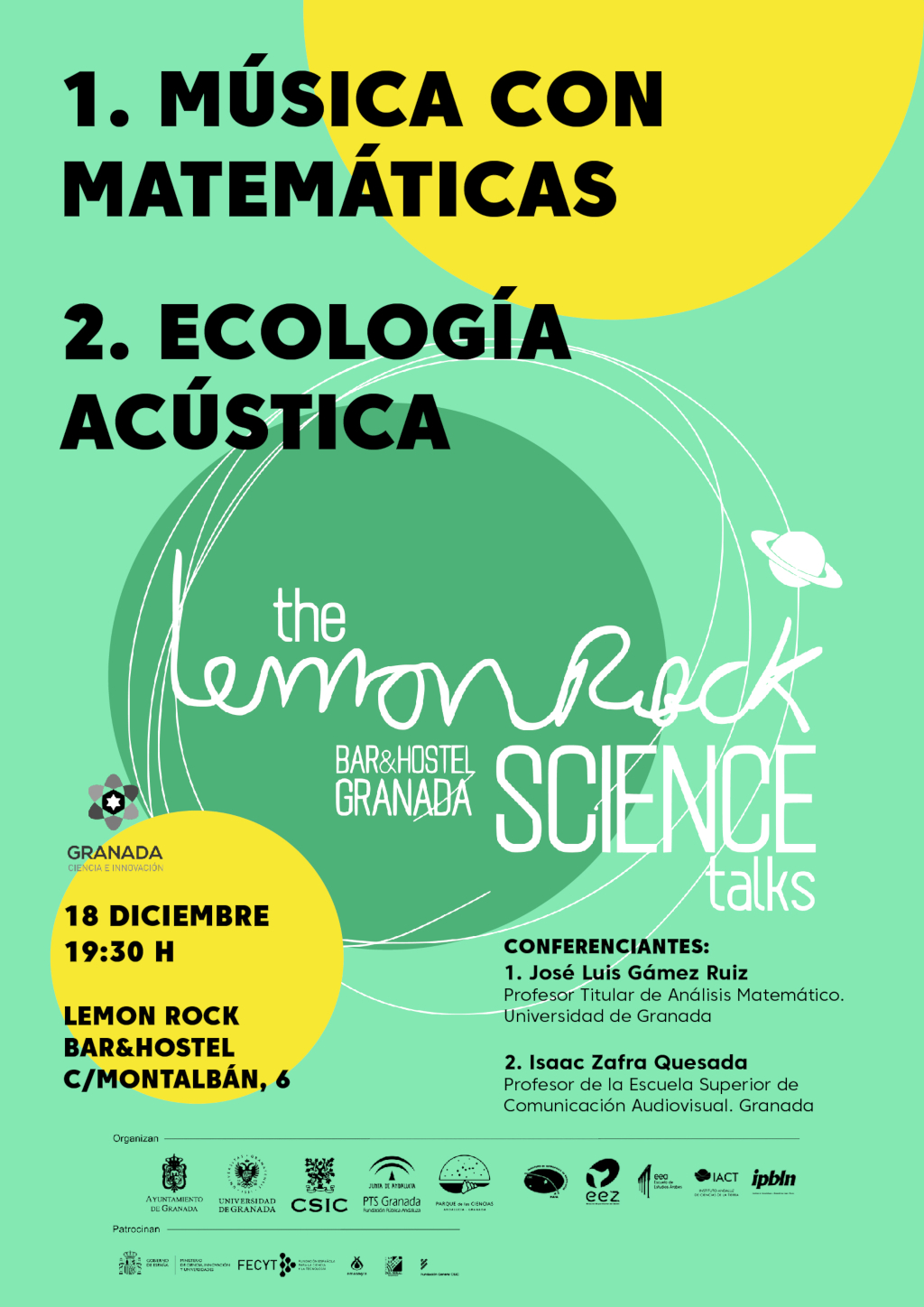 The Lemon Rock Science Talks de diciembre de 2019