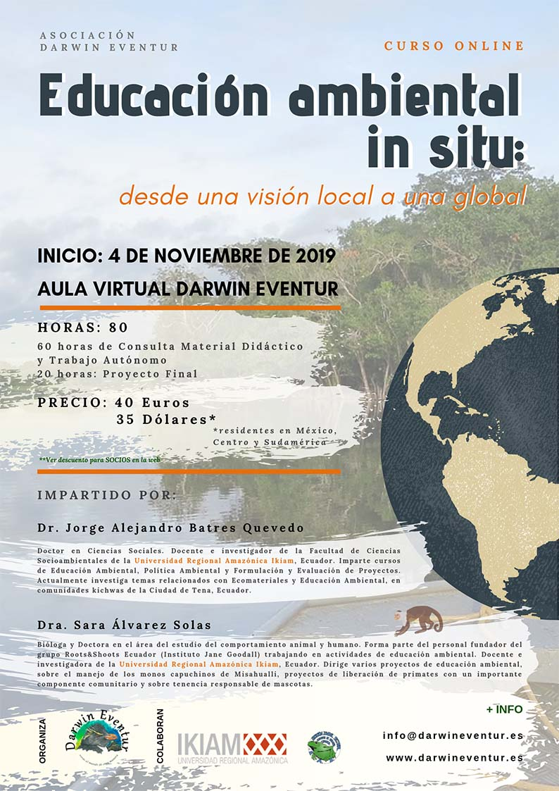 "Curso online ""Educación ambiental in situ: desde una visión local a una global"""