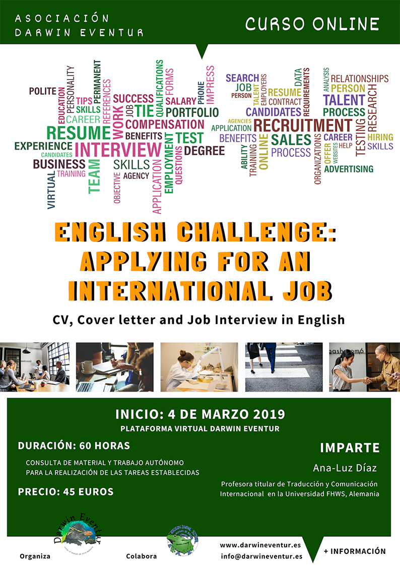 "Curso Online ""English Challenge: Applying for an International Job"""
