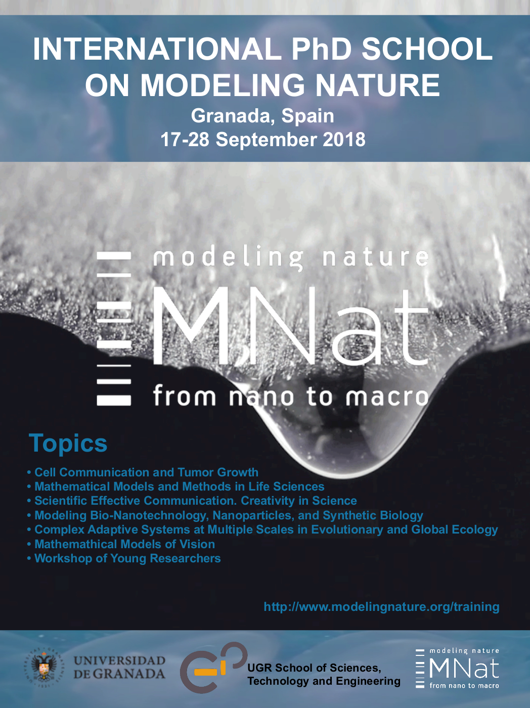 International Phd School on Modeling Nature